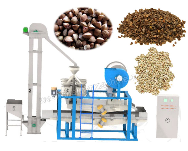Buckwheat Hulling and Separating Machine