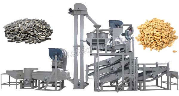 1500 sunflower seeds shelling line