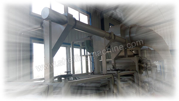 wind-driven back-feeder in sunflower shelling line