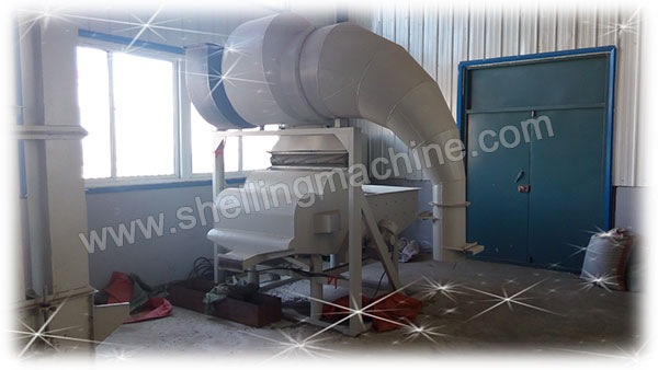 multifunction impurity remover in hemp seed shelling line